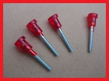 Fiat 126 Lights Plastic Red Head Short Screw - Set of 4 (four)