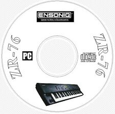 Ensoniq ZR-76 Sound Library, Manual, MIDI Software & Editor CD ..-  ZR76 ZR 76