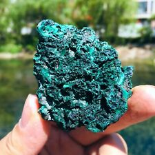 67G Natural Green Malachite Ore Crystal Quartz Specimen Africa Collect Healing