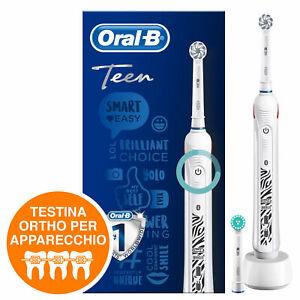 Oral B Smart Series Teen Spazzolino Elettrico Braun, 2 Testine, App e Bluetooth
