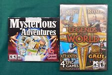 Lot of 20 PC Games Mysterious Adventures + Legends of the World Mahjongg Hidden