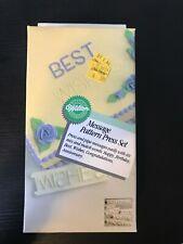 1987 Wilton Message Pattern Press Set New in Box NOS