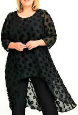 TS Top Taking Shape Plus Sz XL / 24 100 Silk Society Tunic Sheer