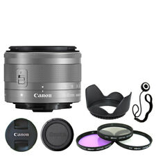 Canon EF-M 15-45mm f/3.5-6.3 IS STM Lens Silver + Deluxe Accessory Kit