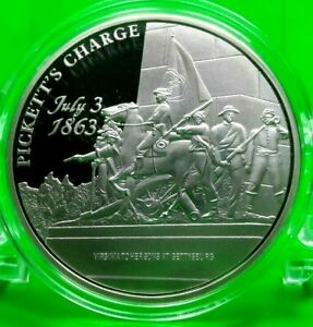 PICKETT'S CHARGE COMMEMORATIVE COIN PROOF VALUE $99.95