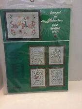 "Vogart Vintage Belgium Linen Sampler "" My Home Is My Castle Cross Stitch Kit"