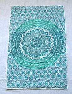 New Baby Quilt Block Print Vintage 100% Cotton Fabric Bedding Handmade Blanket