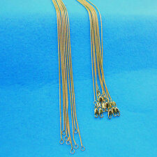 "Wholesale 5PCS 18"" 18K GOLD Filled Snake Necklace Chains For Pendants Fashion"
