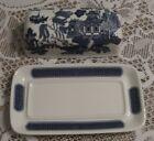 Churchill Blue Willow Butter Dish **PRISTINE**                                S1