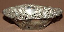 Vintage hand made ornate floral metal bowl