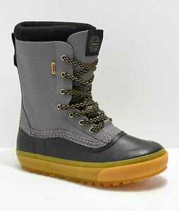 NEW MEN'S VANS STANDARD SNOW BOOTS PAT MOORE BLACK / GREY VN0A3TFMREL SNOWBOARD