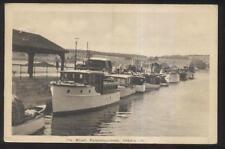 Postcard PENETANGUISHENE Ontario/CANADA  Boat Docks/Wharf 1930's