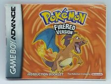 Pokemon FireRed Version (Nintendo Game Boy Advance, 2004) INSTRUCTION BOOKLET