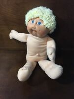 Vintage 1985 Cabbage Patch Kid Boy Doll Blonde Hair Blue Eyes Dimples