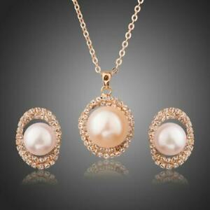 Unique Gifts For Her ROUND PEARL WITH NECKLACE DROP EARRINGS SET KHAISTA