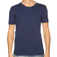 Mens navy blue Faithful protex flame retardant T Shirt, welders etc, Size Medium