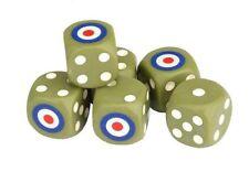 Char Britannique dés lot 16mm (6) Cube W6 6 face Briten Grande-Bretagne