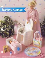 Nursery Accents ~  plastic canvas pattern  ~ fashion doll pattern