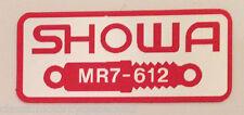 HONDA RC30 VFR750R REAR SHOCK RESERVOIR SHOWA CAUTION WARNING DECAL