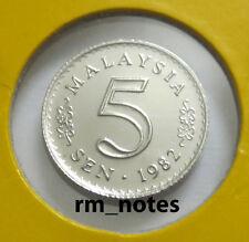 "MALAYSIA  5sen coin 1982 Parliament series ""BU"""