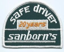 Sanborn's Express 20 years safe driver patch 3 X 3-7/8