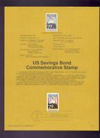 #2534 29c Savings Bonds USPS #9118 Souvenir Page