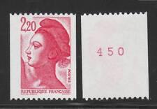FRANCE N° 2379b ** Numéro rouge au verso, Liberté, TTB