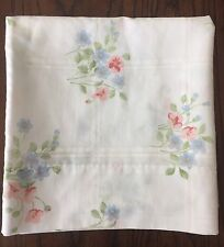 ONE KING VINTAGE CANNON FEATHERLITE PILLOWCASE Cottage PINK BLUE FLORALS Flowers
