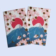 Japanese Pochibukuro Envelopes Mt.Fuji and Cherry blossom pattern from Japan