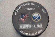 Buffalo Sabres Vs. Pittsburgh Penguins2017 Official Warm Up Hockey Puck
