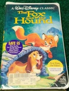Walt Disney The Fox and the Hound Black Diamond Sealed VHS ISBN: 1-55890-135-3
