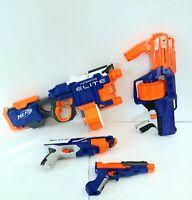 Nerf Gun Blaster Lot Of 4 Hyperfire Elite Surgefire Sharpfire Disruptor Works