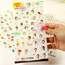 6 Sheets PVC Enjoy Diary Decorative Adhesive Day&DayⅡ Stickers DIY Craft Decal