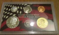 2007 S U.S.Mint 5 Pc Silver Proof Set Partial No Box/Coa 90% Kennedy Dime