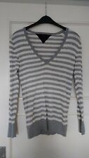 Pullover von Tommy Hilfiger, Gr. S, grau / weiß, sehr guter getragener Zustand