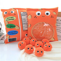 Yummy Plush Cheesy Puffs- Giant Stuffed Bag of Cute Plush Cheese Snacks Gift