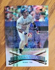 RARE SAMMY SOSA 1998 TOPPS FINEST REFRACTOR WITH PEEL #85 CHICAGO CUBS