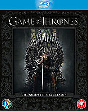 Game Of Thrones - Series 1 - Complete (Blu-ray, 2012, 5-Disc Set, Box Set)