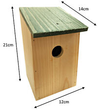 More details for traditional small birds nesting box sparrows blue tits wooden garden nest house