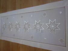 Weihnachtsdecke Handarbeiten Sterne Läufer 40x100cm.