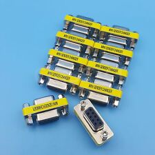 10Pcs DB9 Female To Female Mini Gender Changer Adapter RS232 Serial Connector