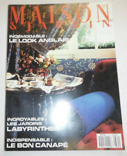 Maison & Jardin French Magazine Le Look Anglais No.331 March 1987 101414R1