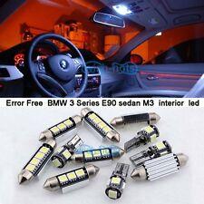 17Pcs White Interior LED lamp Light Kit For 06-12 BMW 3 Series E90 sedan M3  M