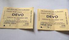 DEVO CONCERT TICKETS (x2) FREE TRADE HALL 4th DEC 1979 ORIGINALS.