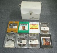 Lot of 8 4 Track Cartridge Tapes & Vintage Muntz Stereo-Pak Carrying Case TC4