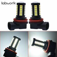 US H8H9H16 H11 LED Fog Light Bulbs DRL 2800 Lumens Super Bright 5730 33-SMD12V