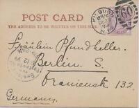 """2427 1899 QV 1 d lilac 16 dots superb postcard Duplex """"KILBURN / N.W. / 60 / 7"""""""