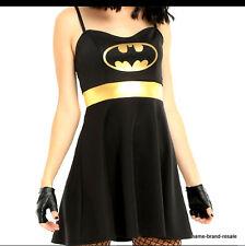 BATMAN NEW Womens PLUS 2XL 2X XXL DRESS Cosplay Halloween COSTUME Black Gold NWT