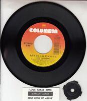 "MARIAH CAREY  Love Takes Time 7"" 45 rpm record + juke box title strip NEW RARE!"