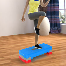 """Soozier 27"""" Aerobic Stepper Step Fitness Exercise 4""""- 6"""" Adjustable Workout Home"""